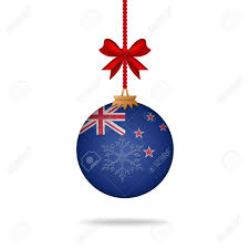 New Zealand Stars On Flag Ilustration Christmas Ball Flag New Zealand Royalty Free Cliparts