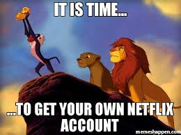 Meme Own Photo - it is time to get your own netflix account meme custom