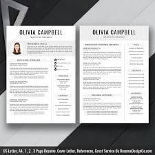 Modern Professional Resume Templates Modern Resume Template Cv Template Professional And Creative