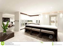 huge modern kitchens modern kitchen with a big island stock image image 56917593