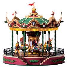 christmas carousel carnival christmas figurine jungle carousel lighted