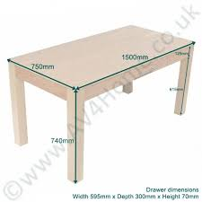 Rectangular Office Desk Alphason Oakwood 1500 Rectangular Office Desk Aw23150