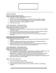 Banker Resume Investment Banker Resume Sample Investment Banker Resume Business