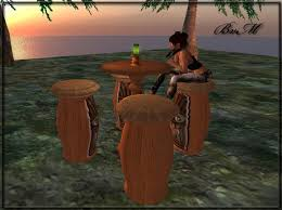 Tiki Patio Furniture by Second Life Marketplace Bayview Market Tiki Style Bar Table