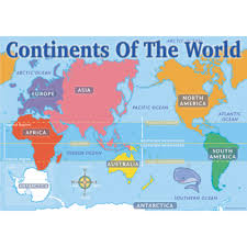 World Map Equator by Continents Of The World Map Chart Pack