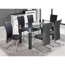 chaises table manger pacific ensemble table à manger 6 personnes 150x90 cm 6 chaises en