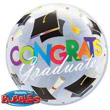 new graduation balloon round bubble shape congrats balloon
