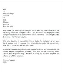 best ideas of sample of a recommendation letter for college