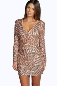 boo hoo clothing boutique sue sequin panelled bodycon dress boohoo