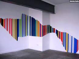 wandgestaltung streifen beispiele asymetrische streifen wand streichen ideen