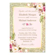 floral wedding invitations amazing wedding invitations pink and gold for gold glitters blush