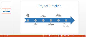 project timeline powerpoint template high level project plan