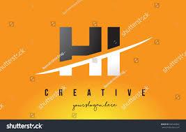 hi h letter modern logo design stock vector 640436842 shutterstock
