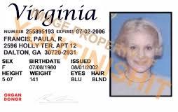 virginia id card od