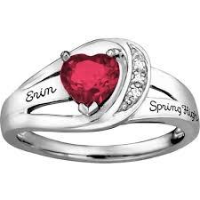 girl heart rings images Keepsake girl 39 s ribbon heart fashion class ring jpeg