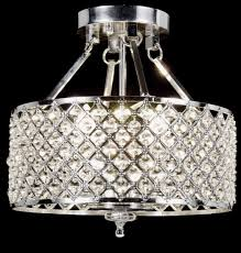new galaxy lighting chrome round shade crystal semi flush mount