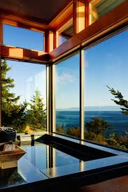 Oceanview House Plans Cliffside House On San Juan Island Bathroom With Ocean View