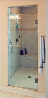 Shower Door Single Frameless Shower Doors Dulles Glass And Mirror