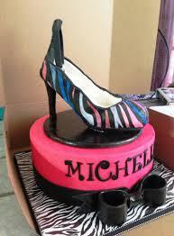cakes by mindy zebra print high heel shoe cake 10