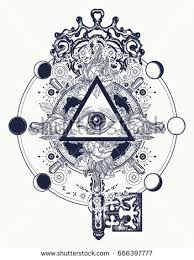all seeing eye tattoo occult art stock vector 561423214 shutterstock
