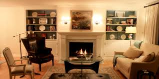 built in book shelves home design corner fireplace with