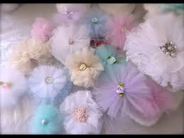 cheap and chic and pretty tulle flowers