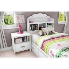 south shore tiara twin mates bed 39 u0027 u0027 with 3 drawers pure white