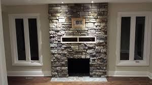 fireplace stone veneer binhminh decoration