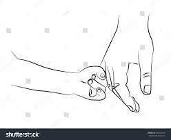 child holding hand mother finger my stock vector 369578249
