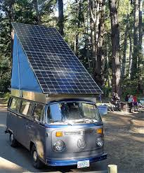 volkswagen minibus electric vintage volkswagen bus converted into solar electric camper curbed