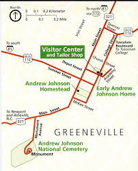 Tennessee On Map by Maps Andrew Johnson National Historic Site U S National Park