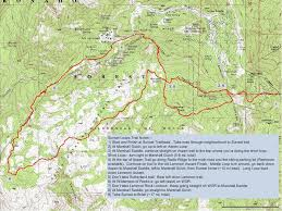 mt lemmon hiking trails map sunset loops tucson trail runners