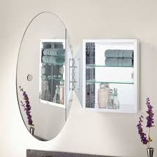 cabinet mirror replacement painting bathroom cabinets oval mirror