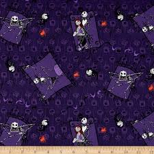 disney nightmare before purple fabric by the yard