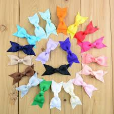 ribbon hair bow 3 mini grosgrain ribbon hair bows pinwheel cheer bows for kids