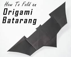 How To Fold Us Flag How To Fold An Origami Batarang From The Dark Knight 8 Steps