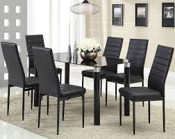 home interiors kennesaw riggan black leg table with black vinyl chairs set by acme