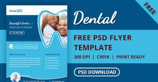 free dental flyer psd template designyep