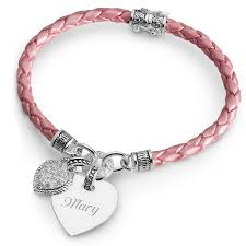 pink heart bracelet images My heart bracelet collection pink braided leather