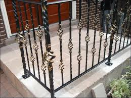exterior luxurious wrought iron fence decorating entrance way of