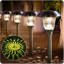 what is the best solar lighting for outside beau jardin 8 pack solar lights bright pathway outdoor garden stake glass stainless steel waterproof auto on white wireless sun powered landscape