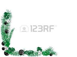 wreath with blue and silver balls royalty free cliparts