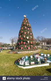national christmas tree outside the white house with gingerbread