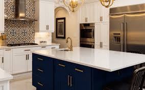 should i paint kitchen cabinets before selling 4 reasons to jump on the navy cabinet kitchen trend nebs