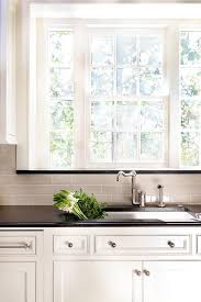 cabinets framing kitchen window design ideas