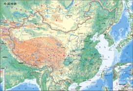 Physical Map Of Europe by Large Detailed Physical Map Of Map Of China In Chinese China