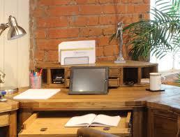 Corner Desk Hutch Windsor Oak Corner Desk Hutch Oak Furniture Uk