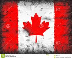 Flag Of Canada Flag Of Canada Painted On Old Wall Stock Illustration Image