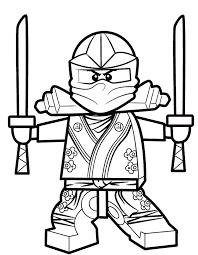 Coloriage et dessin de Ninjago à imprimer  Coloriage ninja vert