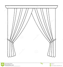 cornice curtains with drapery on the cornice curtains single icon in